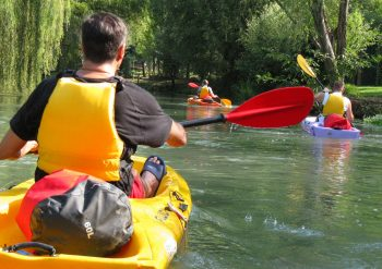 Kayak sile river near Venice and Treviso